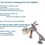 A man received a message from his neighbor…. what happens next is awesome !