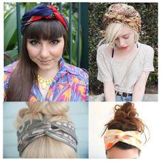 lenços para amarrar no cabelo  http://blogdesapato.wordpress.com/2014/01/16/inspiracoes-turbantes-e-lencos-para-o-cabelo/