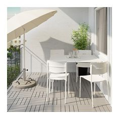 IKEA - VÄDDÖ, Table and 4 chairs, outdoor, You can have several chairs on hand without taking up more space since they are stackable.The table and chair are durable and easy to care for, as they are made of powder-coated steel and plastic.The furniture will look fresher and last longer, as the plastic is both fade resistant and UV stabilized to prevent cracking and drying out.Easy to keep clean – just wipe with a damp cloth.