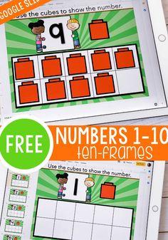Counting Activities, Classroom Activities, Kindergarten Math Centers, Motor Activities, Teaching Kindergarten, Indoor Activities, Family Activities, Numbers 1 10, Ten Frames