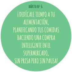 HÁBITO Nº6 Motivation, Live, Healthy, Food, Health, Inspiration
