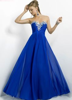 Stunning Royal Blue Sparkly gown by Blush Prom available now at Creme Couture with many others!