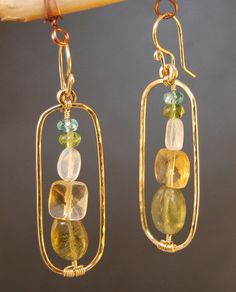Bohemian 21 Hammered ovals with apatite, peridot, moonstone, citrine, and green garnet