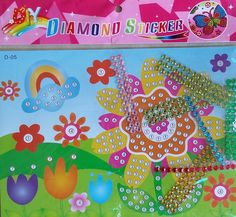 Diamond Sticker - Flower - KidsnCrafts Online Store Craft Projects For Kids, Crafts For Kids, Kids Rugs, Stickers, Diamond, Store, Flowers, Home Decor, Crafts For Children
