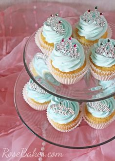 Princess Cupcakes with Mini Tiaras