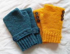 Seamless fingerless glove crochet pattern