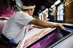 Screen printing furoshiki