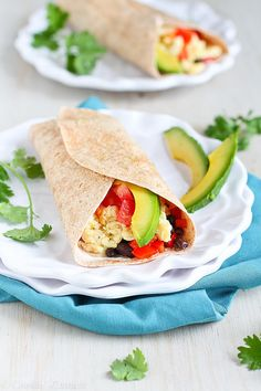 This breakfast burrito is just what your morning needs. The chipotle yogurt is an amazing, flavorful addition on top!