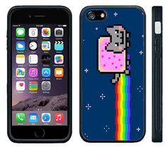Nyan Cat Rainbow Poptart Kitty Kitten - iPhone Case Rubber Silicone Snug fits iPhones 4 5 6 6plus 6+ iPod 4 iPod 5 Touch iPad Mini Air