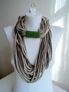 Autumn long scarf  infinity scarf circle scarf by beyazdukkan, $19.00