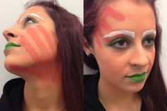 Theatrical Makeup  24/02/14 Roald Dahl Inspired makeup  Charlie and the Chocolate factory - OompaLoompa  MUA Jess Robin  Model @abbey Mayor