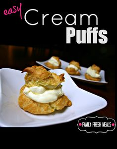 One of the easiest cream puffs recipes! Perfect for parties :)