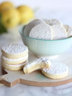 Lemon Meltaways – Profumo di Limoni Biscotti Cookies, Cookie Bars, Gelato, Afternoon Tea, Cookie Recipes, Biscuits, Food And Drink, Sweets, Cupcake