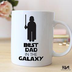 Best Dad in the Galaxy, Best Dad Ever, Geek Dad, 15 oz Coffee Mug, Father's Day Mug, best dad Quote Mug