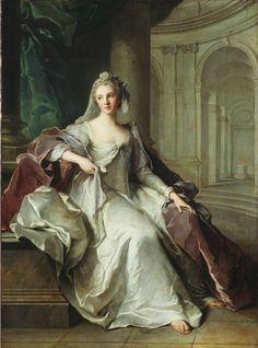 Portrait of Henriette Anne of France (1727-1752), as a Vestal Virgin | Jean-Marc Nattier (1749)