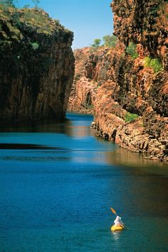 Canoeing in Katherine Gorge, Nitmiluk National Park, Northern Territory, Australia Western Australia, Australia Travel, Outback Australia, Terra Nova, Amazing Destinations, Travel Around, Kayaking, Places To See, Travel Inspiration