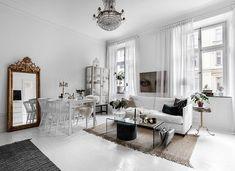 White feminine apartment in Stockholm | PUFIK. Beautiful Interiors. Online Magazine