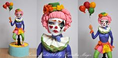 sad clown topper - Cake by Hajnalka Mayor