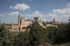 Segovia - View of the Alcazar and cathedral in Segovia.