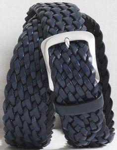 Graae Men's Braided casual belt - marine: €240.