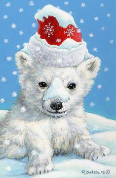 Winter Painting - Sno-bear by Richard De Wolfe