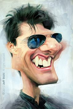 Celebrity Caricatures by Jeff Stahl - http://designyoutrust.com/2014/08/celebrity-caricatures-by-jeff-stahl/