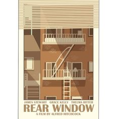 Movie poster Rear Window 12x18 inches retro by ClaudiaVarosio