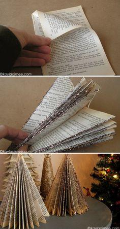Paperback Christmas Tree