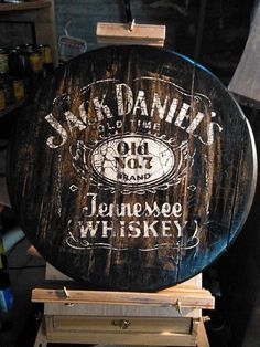 Jack Daniels Tennessee Bourbon Whiskey Barrel Top Sign