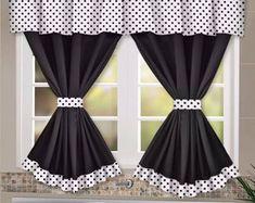 Living Room Decor Curtains, Home Curtains, Simple Kitchen Design, Unique House Design, Kitchen Window Valances, Kitchen Curtains, Kitchen Curtain Designs, Rideaux Design, Interior Design Programs