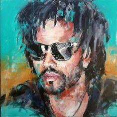 Lenny Kravitz Portrait - acrylic on canvas Acrylic painting by Henryfinearts Lenny Kravitz, Portrait Acrylic, Abstract Portrait, Abstract Art, Art Visage, Acrylic Colors, Simple Art, Acrylic Painting Canvas, Black Art