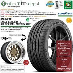 Goodyear EAGLE EXHILARATE All Season Performance Tire 245/50ZR19 XL 105W Rotiform Wheels Goodyear Eagle, Service Map, Performance Tyres, Wheels, Seasons, Seasons Of The Year