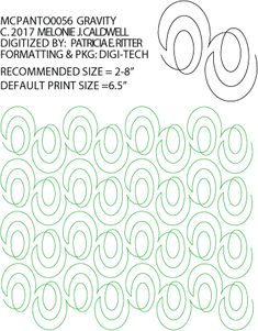 Gravity Pantograph by Melonie Caldwell – judimadsen Quilting Stencils, Longarm Quilting, Free Motion Quilting, Machine Quilting Patterns, Quilt Patterns, Quilting Ideas, Modern Quilting Designs, Quilt Designs, One Stroke Painting