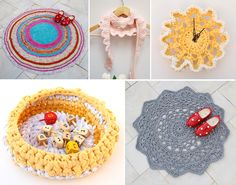 Crocheted Projects Round Up