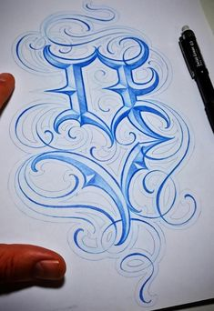 Tattoo Lettering Styles, Graffiti Lettering Fonts, Tattoo Fonts, Lettering Design, Typography, Chicano Art Tattoos, Flourish Calligraphy, Alphabet Wallpaper, Font Art