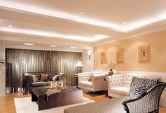 Cove lighting showers this room with attractive indirect lighting.
