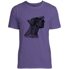 Mintage Arteries of the Neck Mens Fine Jersey T-Shirt (Purple)