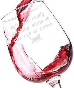 If The Cat Is Home Funny Wine Glass - Best Birthday Gifts For Pet Lover or Owner - Unique Gift For Men and Women Him or Her - Cute Christmas Present Idea For a Mom, Dad, Girlfriend, Boyfriend, Friend >>> Read more reviews of the sponsored product by visiting the affiliate link on the image.