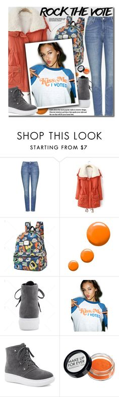"""Rock the Vote in Style"" by beebeely-look ❤ liked on Polyvore featuring Topshop, Wildfox, casual, casualoutfit, rockthevote and twinkledeals"