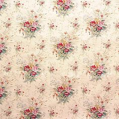 SKU KR-LA1236-21. HEADLANDS CORALBELLS BY LAURA ASHLEY $35/yard
