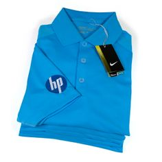 Nike golfpolo's met borduurlogo voor Hewlett Packard.