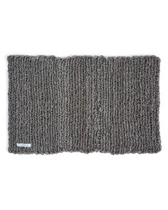 Fog Linen Work Knitted Linen Floor Mat - Natural