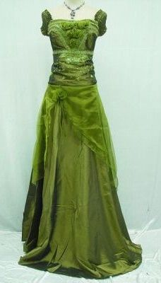 Olive green wedding/formal gown