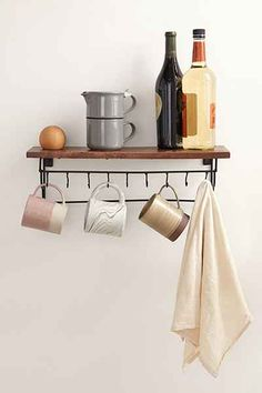 Kassita Kitchen Shelf from Urban Outfitters. Saved to Quick Saves. Shop more products from Urban Outfitters on Wanelo. Kitchen Shelves, Kitchen Storage, Kitchen Dining, Kitchen Organization, Big Kitchen, Organizing, Storage Shelves, Wall Shelves, Shelving