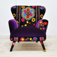 Name Design Studio: Suzani Armchair Purple, at 27% off!