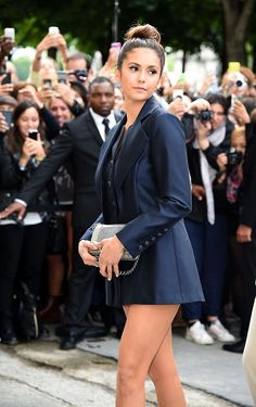 Nina Dobrev - Chanel : Front Row - Paris Fashion Week (July 8, 2014)