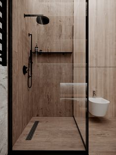 minimal interiors 'Minimal Interior Design Inspiration' is a w Interior Design Examples, Wood Interior Design, Bathroom Interior Design, Interior Design Inspiration, Kitchen Interior, Exterior Design, Design Ideas, Bad Inspiration, Bathroom Inspiration
