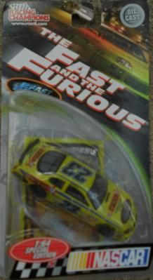 NASCAR 2003 RACING CHAMPIONS THE FAST AND THE FURIOUS #23 SCOTT WIMMER FREE SHIPPING!! The Furious, Snack Recipes, Snacks, Nascar, Diecast, Planes, Champion, Racing, Free Shipping