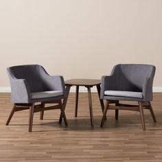 Wholesale Interiors Victoria Mid-Century Modern 3 Piece Lounge Chair and Side Table Set & Reviews | Wayfair
