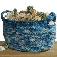 Oceanic Crochet Basket